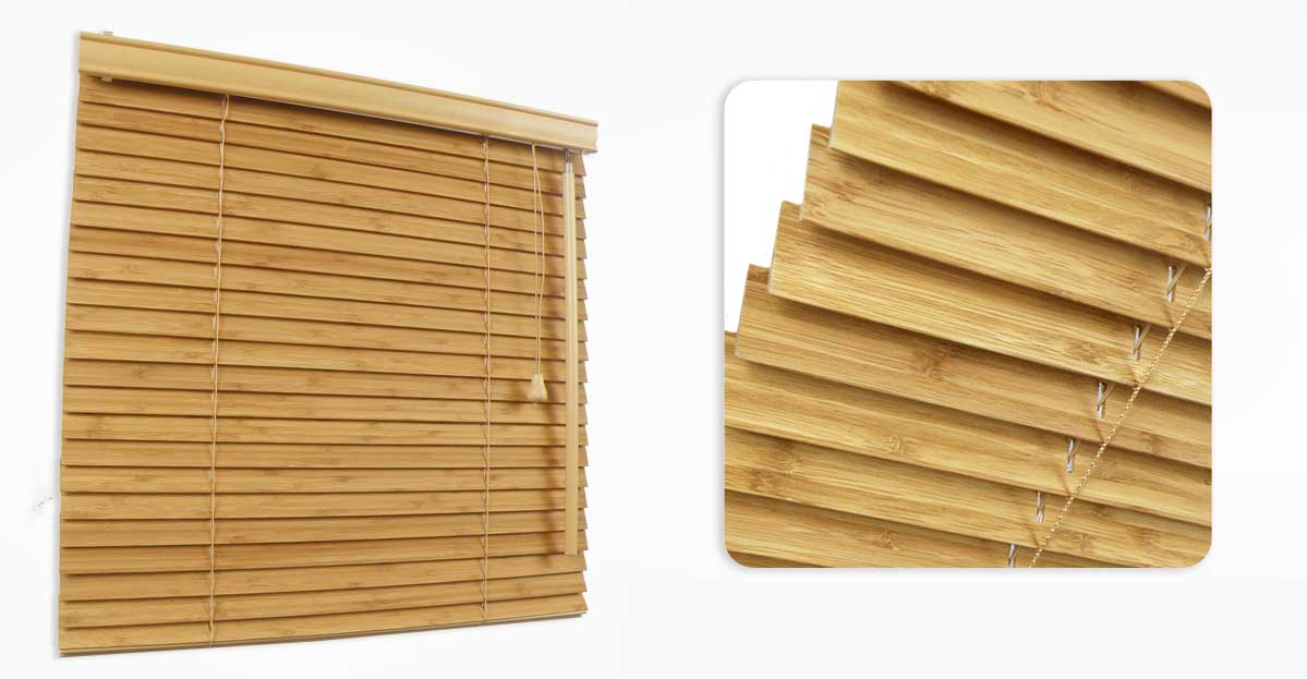 Bamboo Venetian Made To Measure 25mm Blinds Order Online