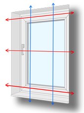 Measuring guide for standard windows: Exact Fitting