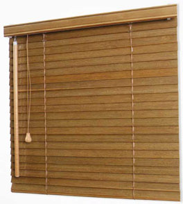 Bamboo Blinds 25mm - lift and tilt control: left