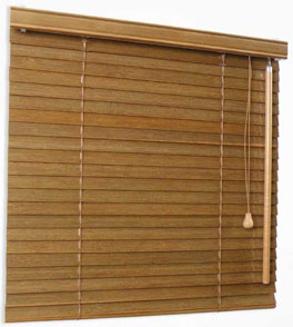 Bamboo Blinds 25mm - lift and tilt control: right