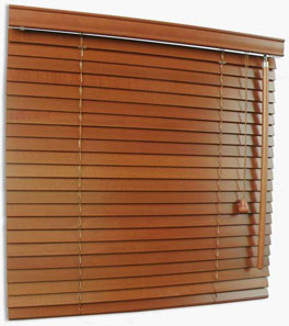 Wooden Blinds 25mm - lift and tilt control: right