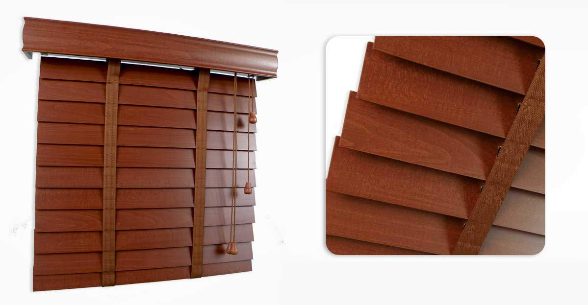 Red Cherry Wooden Blind 50mm