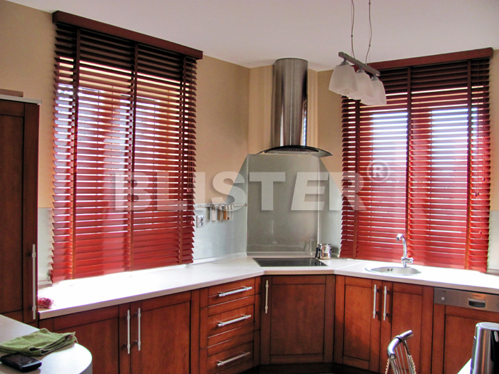 Wooden Blind 50mm Red Cherry