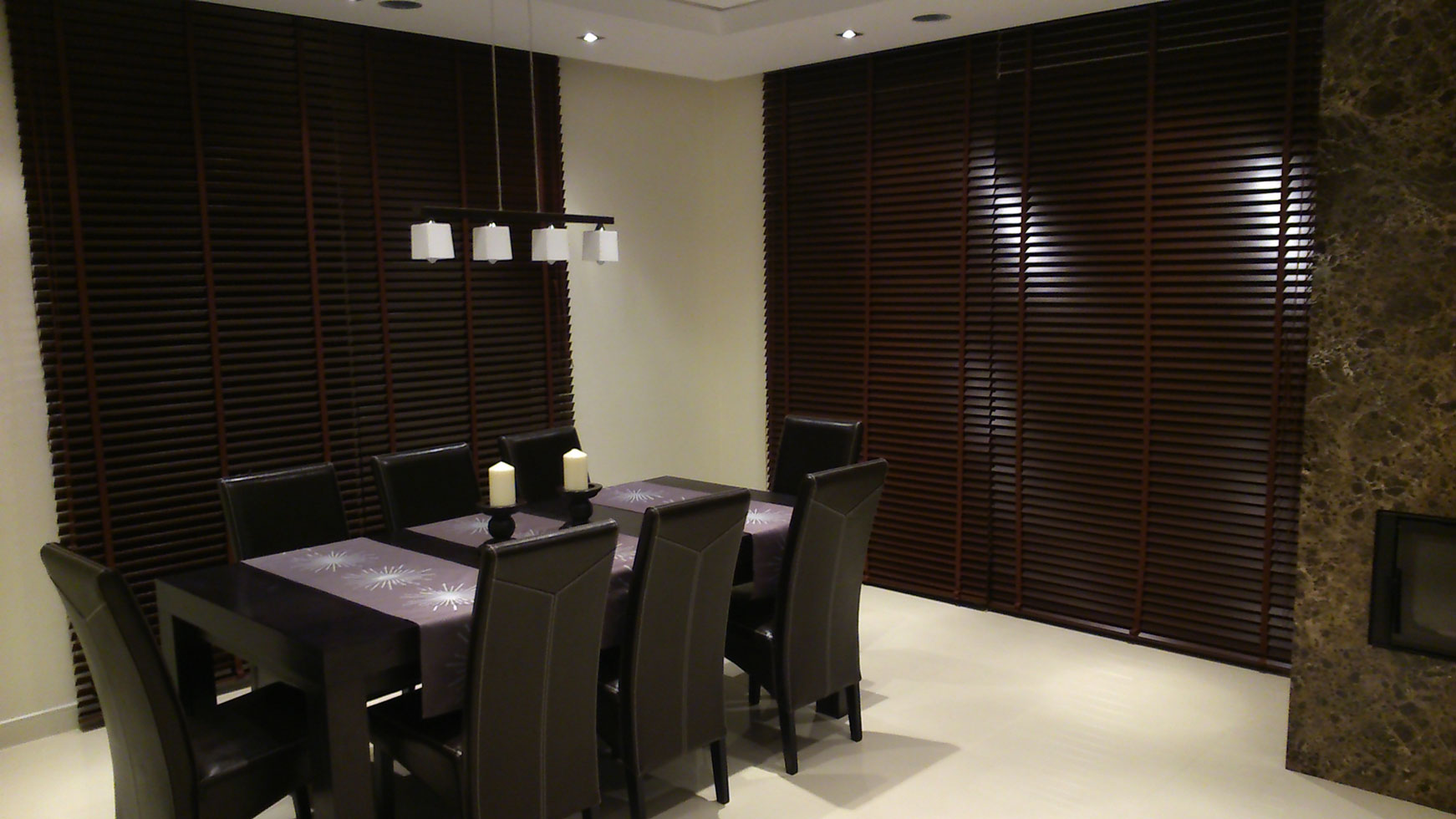 Wooden Blind 50mm Red Mahogany