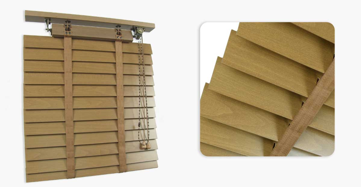 Wooden Venetian 50mm Retro Made To Measure Blinds Order